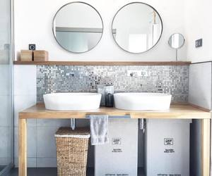 bathroom, décoration, and Blanc image
