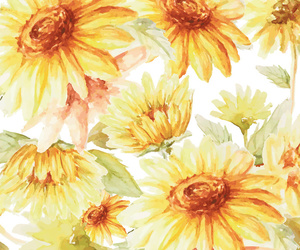 flowers, illustration, and pattern image