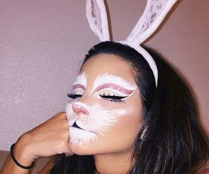 makeup, Halloween, and bunny image