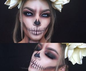 flower, Halloween, and makeup image