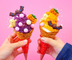 cone, cream, and Halloween image
