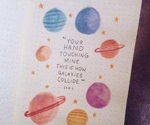galaxy, love, and art image