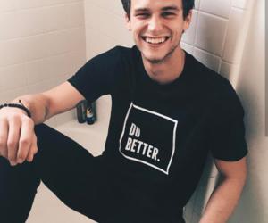 brandon flynn, boy, and smile image