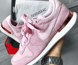 pink, nike, and sneakers image