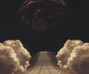 wallpaper, moon, and road image