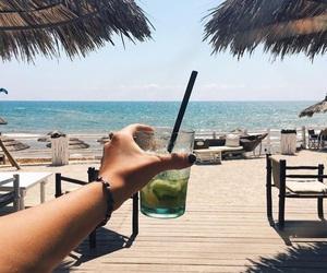 beach, drink, and mojito image