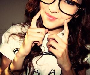 girl, smile, and glasses image