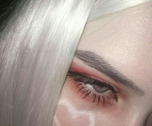 beauty, heart, and white hair image