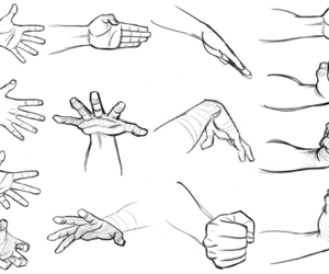 hands, draw, and drawing image