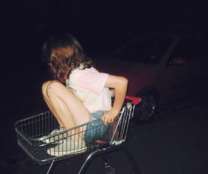 girl, night, and grunge image