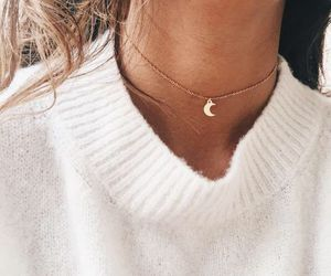 fashion, necklace, and moon image