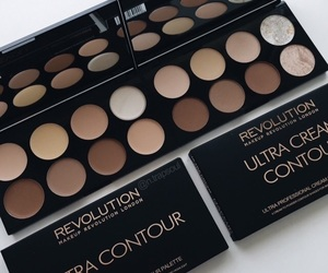 makeup, black, and contour image