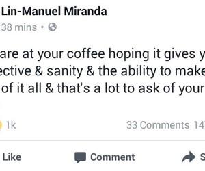coffee, facebook, and hamilton image