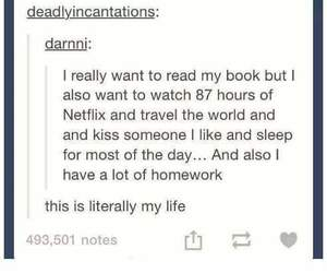 procrastination, thoughts, and tumblr image