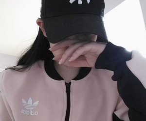 adidas, aesthetic, and baby pink image