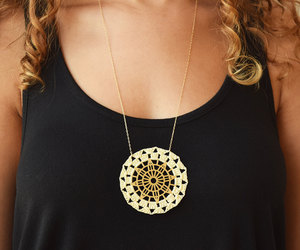 art deco, lace necklace, and statement necklace image