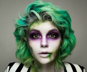 beetlejuice, makeup, and whi image