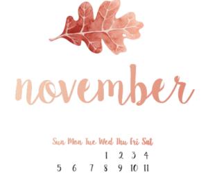 autumn, calendar, and fall image