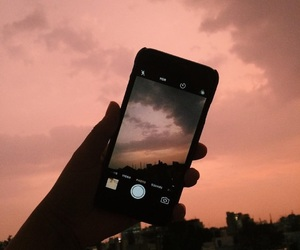 iphone, sky, and grunge image