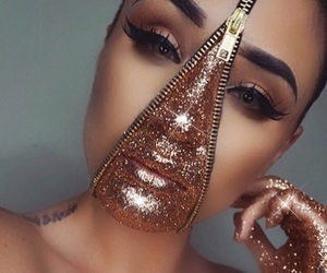 glitter, gold, and Halloween image