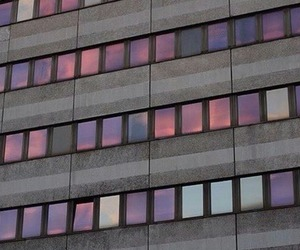 grunge, building, and sunset image
