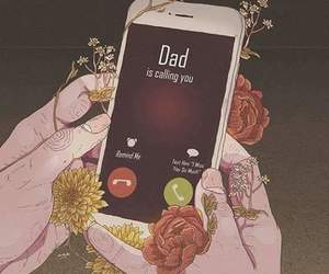 art, call, and dad image