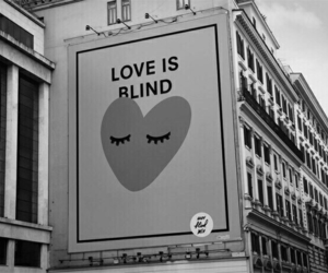 frases, love is blind, and o amor e cego image
