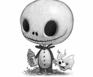 art, drawing, and the nightmare before christmas image
