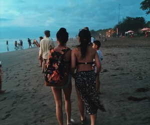 bali, beach, and girls image
