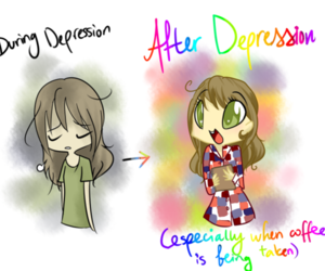 coffee, cute, and depression image