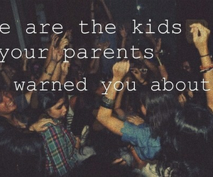 party, kids, and text image