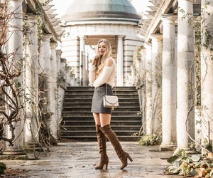 autumn, skirt, and boots image