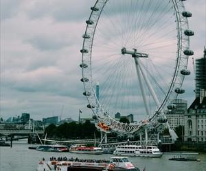 boat, london, and london eye image