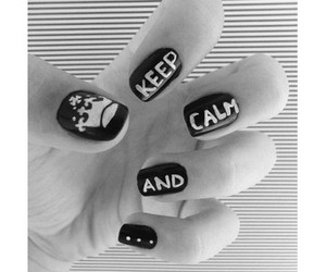 nails, keep calm, and keep calm and image