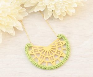 etsy, unique jewelry, and crochet necklace image