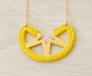 etsy, girl necklace, and crochet necklace image
