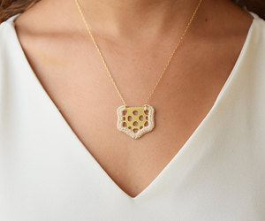 etsy, crochet necklace, and delicate necklace image
