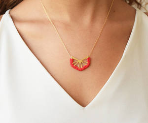 etsy, delicate necklace, and colorful necklace image
