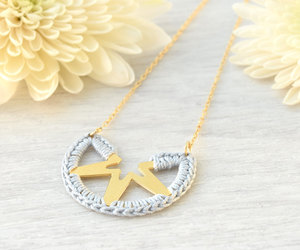 etsy, gold jewelry, and crochet necklace image