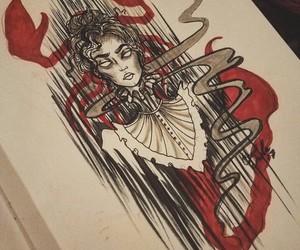 dark, draw, and gothic image