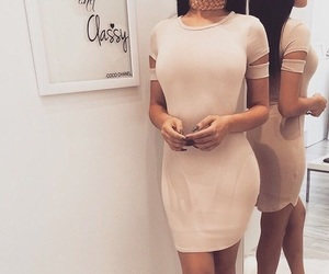 dress, pink, and sexy image