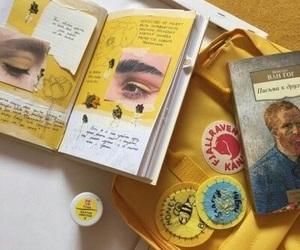 yellow, journal, and aesthetic image