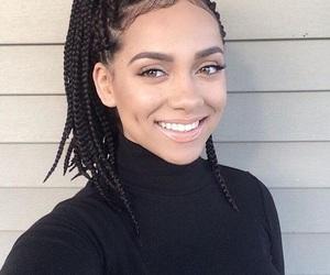 box braids, makeup, and smile image