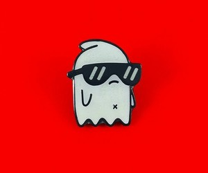 ghost, red, and pin image