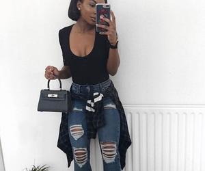 black, jean, and boujie image