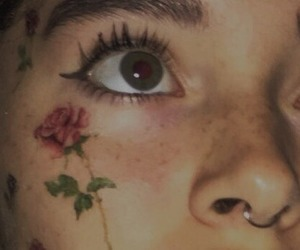 eyes, rose, and alternative image