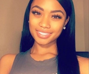 beauty, cute smile, and black women image