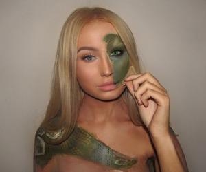 beauty, eyebrows, and Halloween image