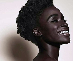 beautiful, smile, and black image