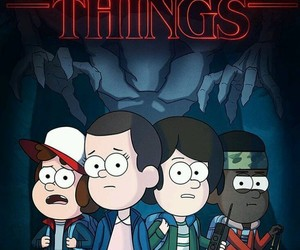 stranger things, eleven, and gravity falls image